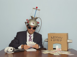 man making money from his mind